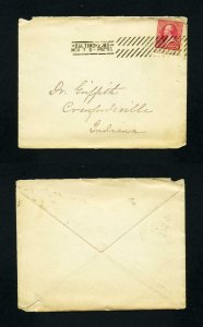 Cover Baltimore, MD to Crawfordsville, IN with mother to Dr. letter - 11-8-1895
