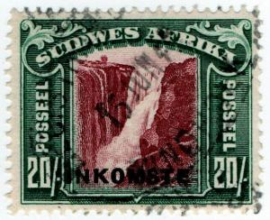 (I.B) South-West Africa Revenue : Duty Stamp 20/-
