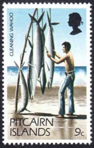 Pitcairn Islands # 167 mnh ~ 9¢ Cleaning Wahoo (Fish)