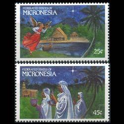 MICRONESIA 1989 - Scott# 104-5 Christmas Set of 2 NH