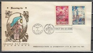 Philippines, Scott cat. 832-833. National Scout Jamboree. First Day Cover. ^