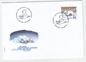 2008, Switzerland: Little Polar Bear, FDC, (S18898)