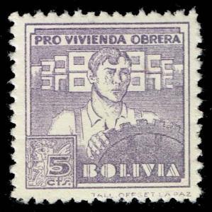 Bolivia #RA2 Postal Tax; Unused (0.75)