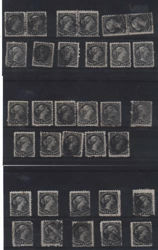 Canada #21 Used Collection Of 33 Including 3 Pairs