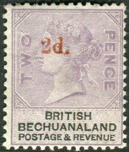 BECHUANALAND-1888 2d on 2d Lilac & Black.  A lightly mounted mint example Sg 23