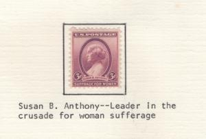 US 1936 Stamps Susan B Anthony Scott 784 MH