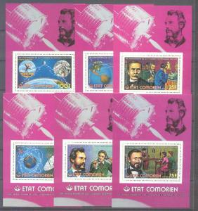 Comoro 196-201, 6 MNH s/s Telephone/Space