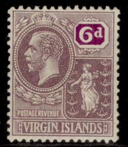 BRITISH VIRGIN ISLANDS GV SG98, 6d dull & bright purple, M MINT.