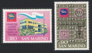 San Marino Italian Philatelic Press Union Congress San Marino 3v SG#910-912