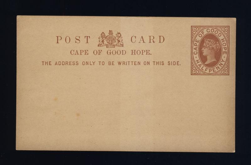 CAPE OF GOOD HOPE - 1889 - 1/2d POSTAL CARD FINE MINT