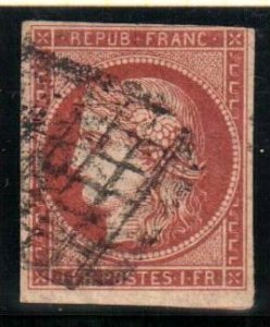 France #9 VF USED imperf C$950.00 +++