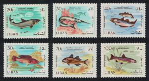 Lebanon Fishes 6v SG#998-1003
