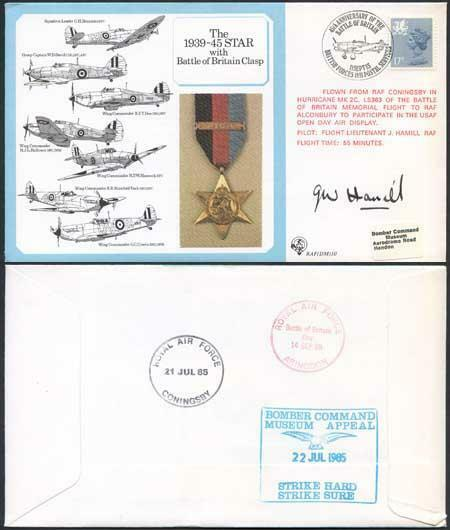 DM10a The 1939 to 1945 Star with Battle of Britain Clasp Signed by Hamill (W)