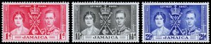 Jamaica Scott 113-115 (1937) Mint LH VF Complete Set C