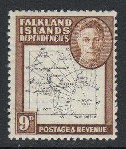 Falkland Islands Dep., SG G15 (Thin Map), MLH