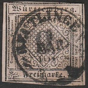 Wurttemberg #5 F-VF Used  CV $95.00 (A17820)