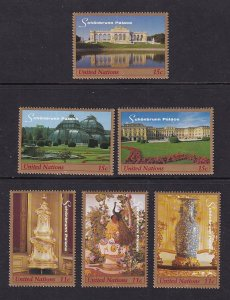 United Nations New York  #743a-f  MNH  1999   Schonnbrunn Palace