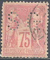 France 83 Used - Perfin SG - Peace & Commerce