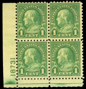 U.S. PLATE BLOCKS 581  Mint (ID # 75503)