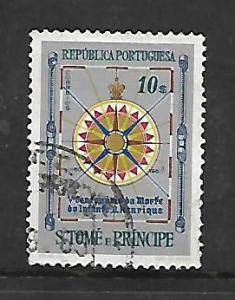 ST. THOMAS & PRINCE ISLANDS, 372, USED, COMPASS ROSE