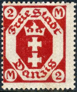 DANZIG - 1922 - Mi.96 2M carmine red - Mint* (a)