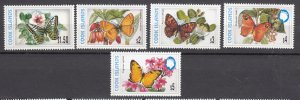 J28404 1997-8 cook island mnh part of set #1226a-1226e butterflies