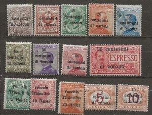 Austria, Italian Occupation  N51-3,64//73,NE2,NE28-[m]