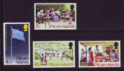 Pitcairn Islands Sc 123-6 1972 Commission mint stamps NH