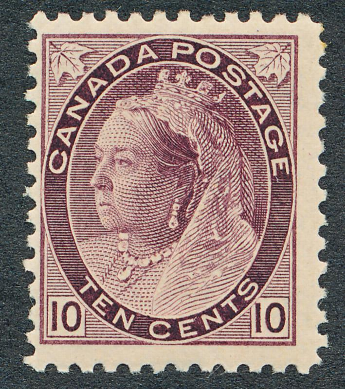CANADA 83 MINT HINGED, FINE, 10c VICTORIA