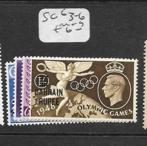 BAHRAIN (PP0802B) ON GB  KGVI  OLYMPICS  SG 63-6   MOG