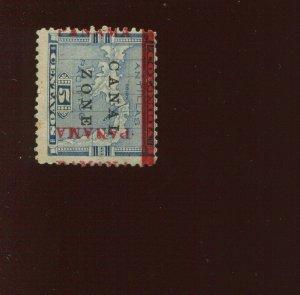 Canal Zone 12 'PAMANA' Reading Up SPLIT OVERPRINT Variety Stamp (CZ12 Bx 993)