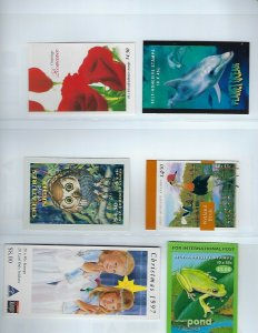 AUSTRALIA BOOKLETS 1996 TO 2003- $400+ AUD POSTAL VALUE (SOME LOOSE STAMPS)