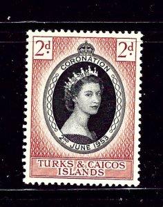 Turks and Caicos  118 MNH 1953 QEII Coronation  (Bon)
