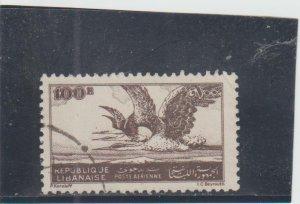 Lebanon  Scott#  C110  Used  (1946 Night Herons)