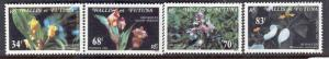 WALLIS & FUTUNA ISLANDS 283-286 MINT HINGED FLOWERS 1982