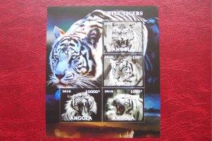 Angola 2016 MNH Fauna Animals Tiger Imperf