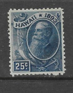 HAWAII Scott #79 Mint 25c President Ballard  2018 CV $22.50