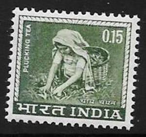 INDIA SG510 1965 15p BRONZE-GREEN MNH
