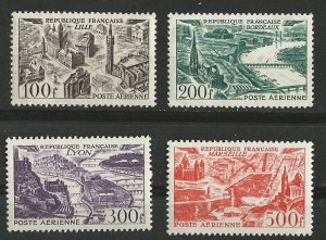 France # C23-26  Cities - airmails   (4)   Unused  LH/NH