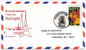 United Airlines First Flight Washington D.C. to Paris France, 1991, 2 reported