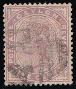 Ceylon #131a Queen Victoria; Used (0.25)