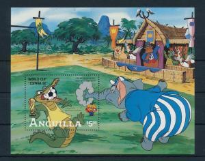 [22103] Anguilla 1982 Disney World Cup Football Spain Sheet MNH