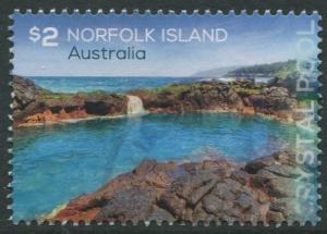 NORFOLK ISLAND: CRYSTAL POOL 2018 - $2 USED