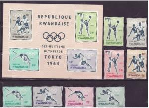 Rwanda - Olympic Games -  Set of 9 Stamps - 76-83a