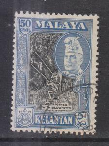 Malaya Kelantan 1957 Sc 79 50c Used