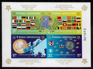 Bosniak #529e MNH IMP S/Sheet - Europa Stamps - 50th Anniversary (i)