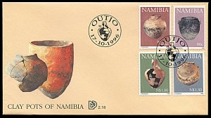 Namibia 812-815, FDC, Early Pastoral Pottery