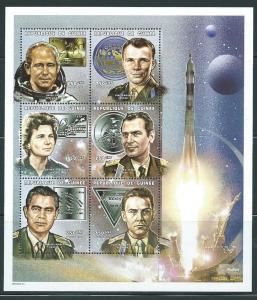 Guinea Unlisted 1999 Russian Cosmonauts m/s MNH (14-89)