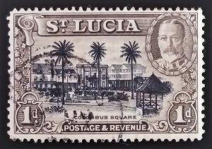 1936 SAINT LUCIA  1d USED STAMP - SCOTT #96-A16  SG # 114-19    ID:7332