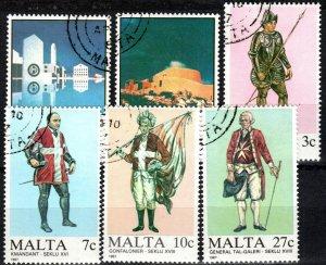 Malta #694-9  F-VF Used CV $9.95 (X5704)